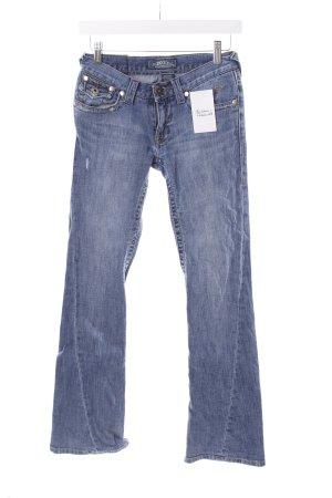 Roxy Boot Cut Jeans blau Logo-Applikation aus Leder