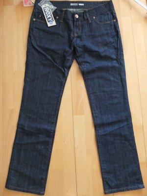Roxy Jeans coupe-droite bleu foncé coton