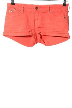 Roxy Denim Jeansowe szorty czerwony W stylu casual