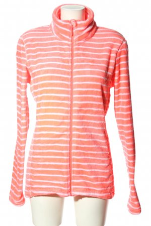 Roxy Fleecejacke pink-weiß Streifenmuster Casual-Look