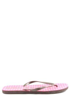 Roxy Flip Flop Sandalen braun-pink Punktemuster Casual-Look