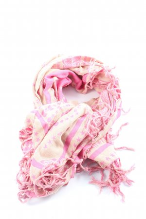 Roxy Fringed Scarf pink-cream allover print casual look