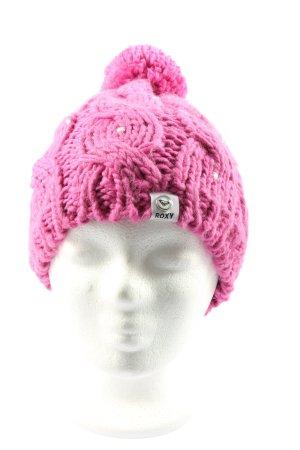 Roxy Cappello all'uncinetto rosa stile casual