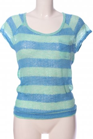 Roxy Camicetta all'uncinetto turchese-blu stampa integrale stile casual