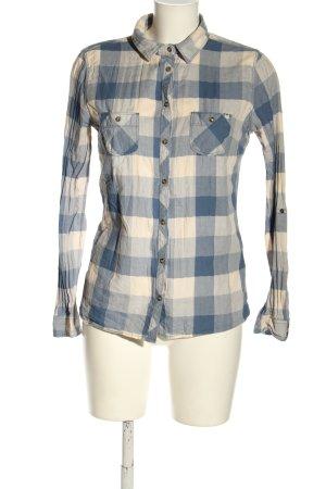 Roxy Camisa de leñador azul-blanco puro look casual