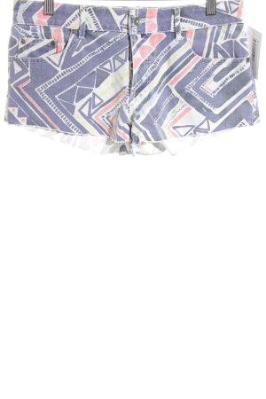 Roxy Hot Pants blau-lachs abstraktes Muster