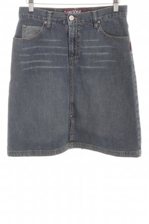 Roxy Jeansrock graublau-blassblau Washed-Optik