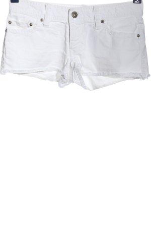 Roxy Pantalón corto de tela vaquera blanco look casual