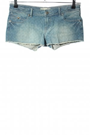 Roxy Jeansshorts blau Punktemuster Casual-Look