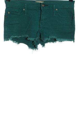 Roxy Pantalón corto de tela vaquera verde look casual