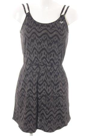 Roxy Jerseykleid hellgrau abstraktes Muster Casual-Look