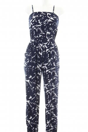 Roxy Jumpsuit schwarz-weiß Allover-Druck Casual-Look