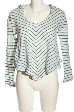 Roxy Blusa con capucha blanco-verde estampado repetido sobre toda la superficie
