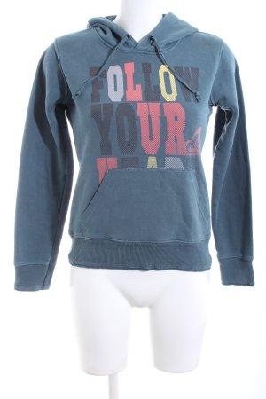 Roxy Kapuzensweatshirt blau Schriftzug gedruckt Casual-Look