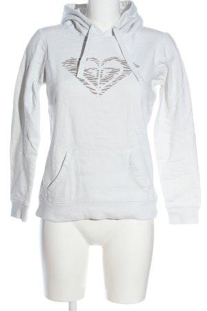 Roxy Hooded Sweatshirt white themed print casual look