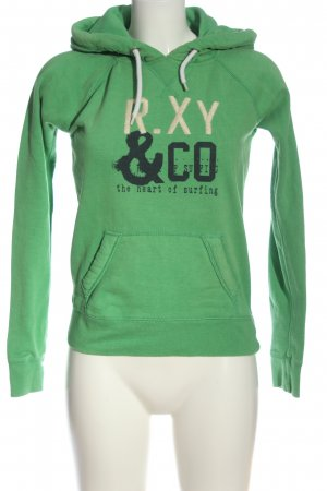 Roxy Hooded Sweatshirt themed print casual look