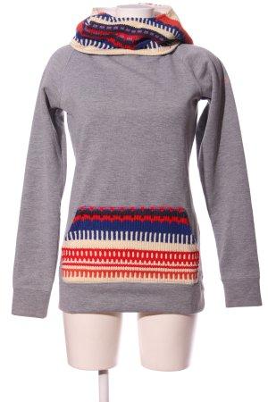 Roxy Kapuzensweatshirt grafisches Muster Casual-Look