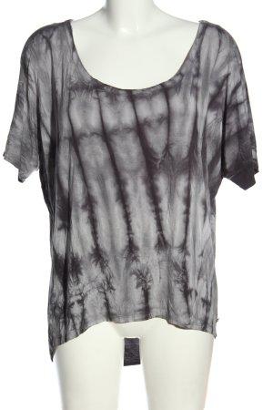 Roxy T-shirt gris clair motif abstrait style décontracté