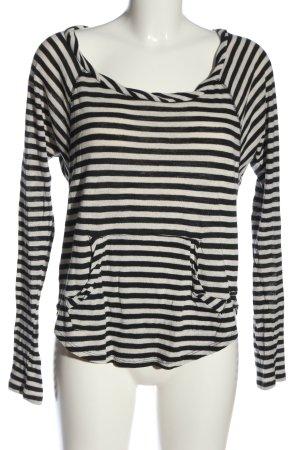 Roxy Longsleeve weiß-schwarz Streifenmuster Casual-Look