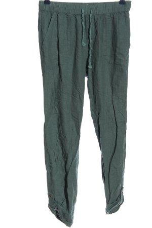 Roxy Pantalone di lino turchese stile casual