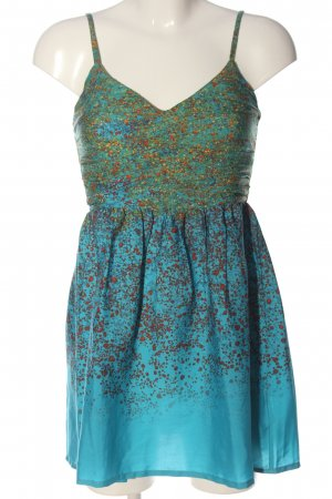 Roxy Pinafore dress blue abstract pattern casual look
