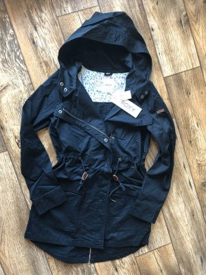 Roxy Hooded Coat dark blue