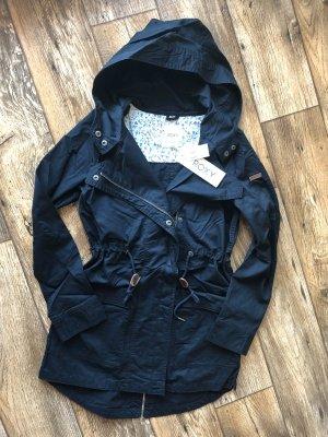 Roxy Capuchon jas donkerblauw