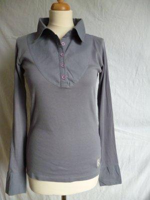 Roxy Poloshirt mit langen Ärmeln in Blaugrau, Gr. M
