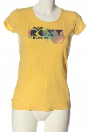 Roxy Print-Shirt blassgelb-blau Motivdruck Casual-Look