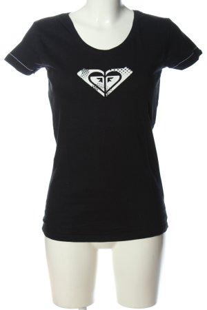 Roxy Print-Shirt schwarz-weiß Motivdruck Casual-Look