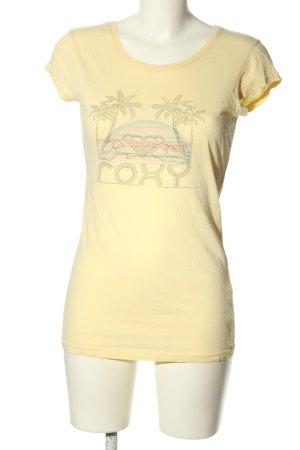 Roxy Print-Shirt creme Motivdruck Casual-Look