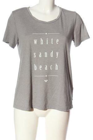 Roxy Camiseta estampada gris claro-blanco moteado look casual