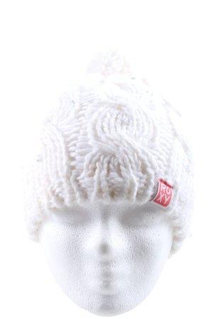 Roxy Wełniana czapka kremowy W stylu casual