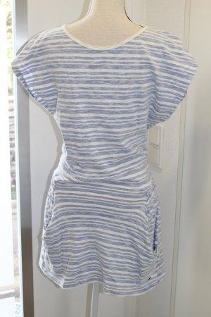 Roxy Robe Sweat blanc-bleu azur coton