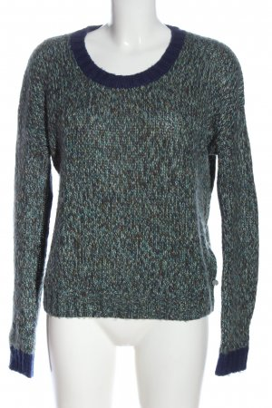 Roxy Crewneck Sweater blue flecked casual look