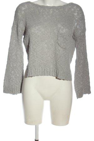 Roxy Pull tricoté gris clair style décontracté