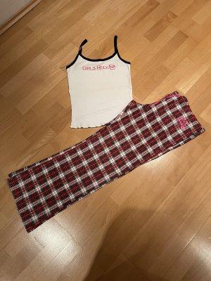 Roxy Pyjama blanc-bordeau