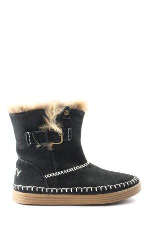 Roxy Schlüpf-Stiefeletten schwarz-weiß Casual-Look