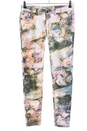 Roxy Skinny Jeans Allover-Druck Casual-Look