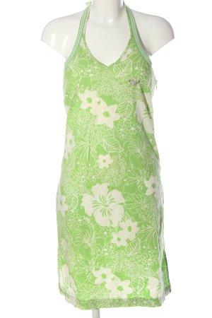Roxy Vestido de Verano verde-blanco estampado floral look casual