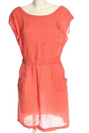 Roxy Vestido de Verano rojo-blanco estampado repetido sobre toda la superficie