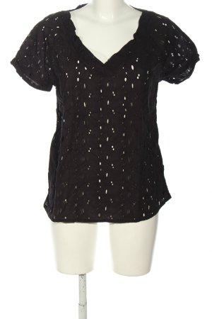 Roxy Spitzenbluse schwarz Casual-Look