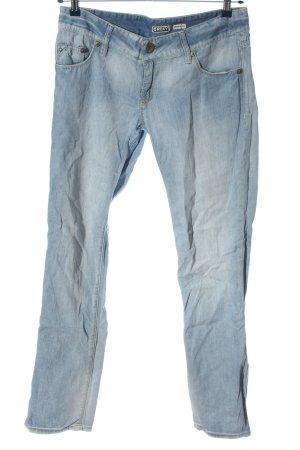 Roxy Jeans coupe-droite bleu coton
