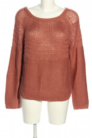 Roxy Strickpullover pink Zopfmuster Casual-Look