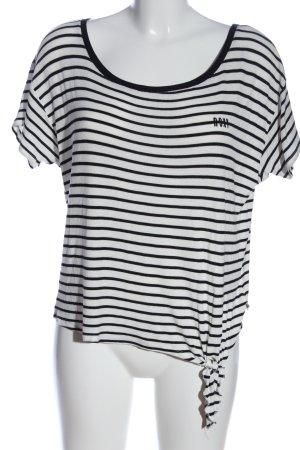 Roxy Gebreide top wit-zwart gestreept patroon casual uitstraling
