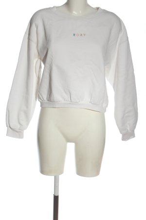 Roxy Suéter blanco letras bordadas look casual