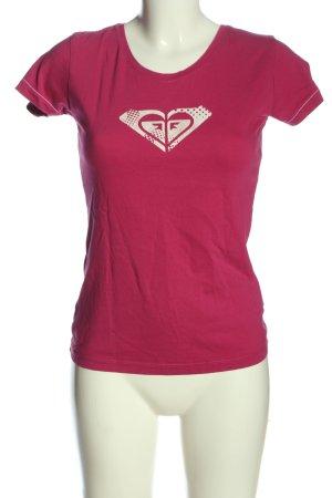Roxy T-Shirt pink Motivdruck Casual-Look