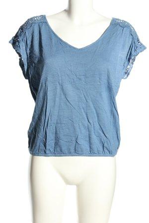 Roxy T-Shirt blau meliert Casual-Look