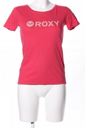 Roxy T-Shirt rot Motivdruck Casual-Look