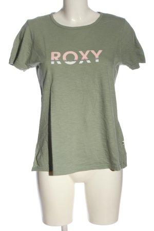 Roxy Camiseta caqui letras impresas look casual